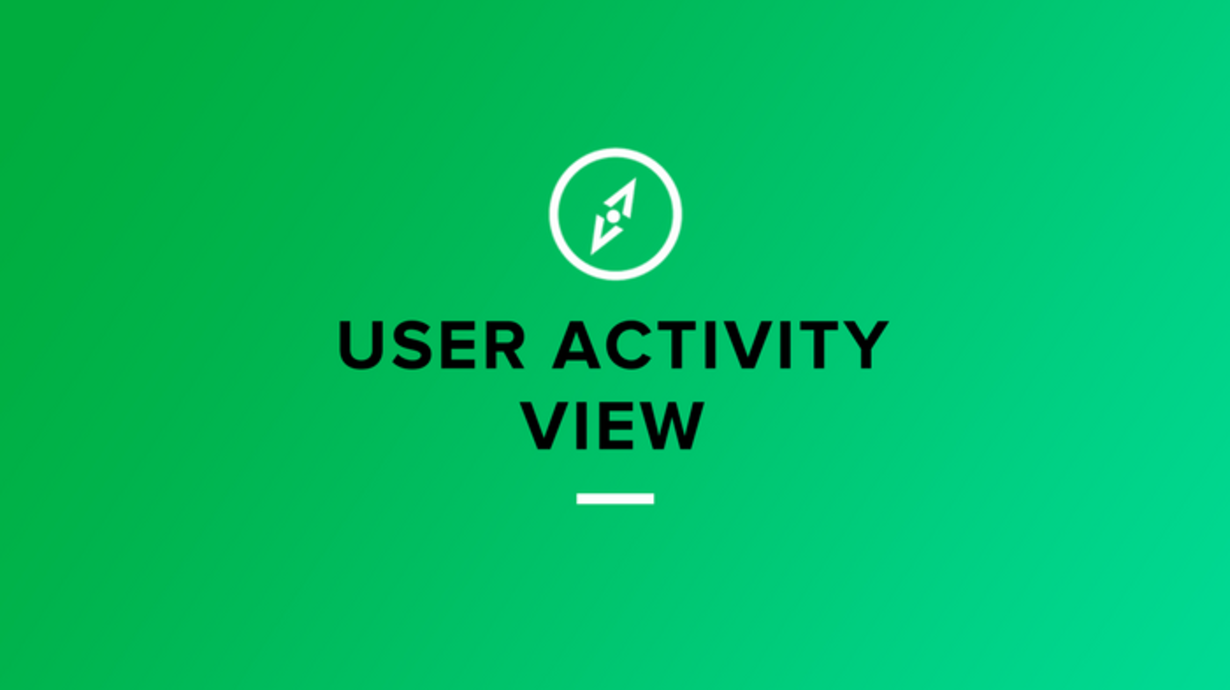 User activity view mParticle